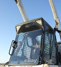 Bobcat T320 1/2 Extreme Duty Demo Lexan Porte + Fenêtres Latérales! Chargeuse À Direction À Glissement