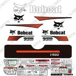 Bobcat T450 Compact Chargeuse Sur Chenilles Decal Kit Skid Steer T450 (courbé Stripes)