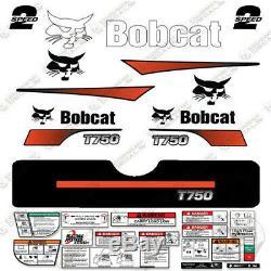 Bobcat T750 Decal Kit Skid Steer (courbé Stripes)