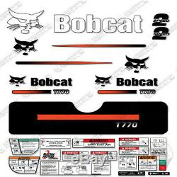 Bobcat T770 Compact Chargeuse Sur Chenilles Decal Kit Skid Steer (rayures Droites)