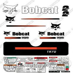 Bobcat T870 Compact Chargeuse Sur Chenilles Decal Kit Skid (rayures Droites)