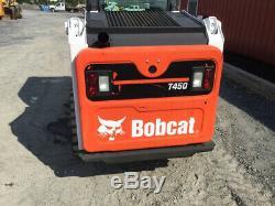 Cabine De La Chargeuse Compacte Sur Chenilles Compactes 2017 Bobcat T450 Sjc 2spd Seulement 100 Heures