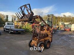 Case 1818 Diesel Skid Steer Kubota Avec Muck Fork Skidsteer Loader Digger