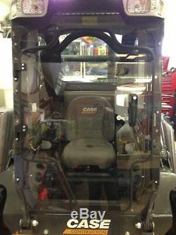 Case 40xt À 90xt Faucheuse Mulcher Porte + Cab. Lexan Poly Mini Chargeur