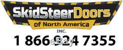 Case 75xt 85xt 95xt 1/2 Lexan Antidérapante Steer Et Cab Porte! Convient À Tous Types