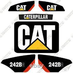 Caterpillar 242b-2 Autocollants Reproduction Skid Steer Équipement Autocollants