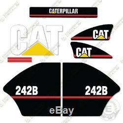 Caterpillar 242b Autocollants Reproduction Skid Steer Équipement Autocollants Ancien Style