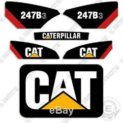 Caterpillar 247b-3 Decal Kit Skid Autocollants D'équipement Steer