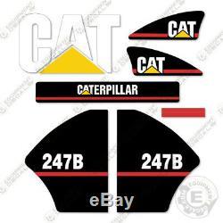 Caterpillar 247b Decal Kit Équipement Autocollants Ancien Style