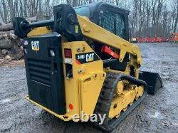 Caterpillar 249d Rubber Track Skid Steer Loader 2016 Seulement 219 Hrs