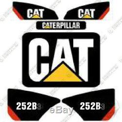 Caterpillar 252b-3 Decal Kit Skid Steer Équipement Décalcomanies 252 252 B3-b3 252 B 3