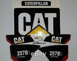Caterpillar 257b-3 Decal Kit 2 Vitesses Équipement Décalques Autres Numéros Seulement Un Message