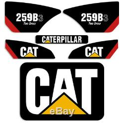 Caterpillar 259b-3 Decal Kit 2 Vitesses Équipement Décalques Autres Numéros Seulement Un Message
