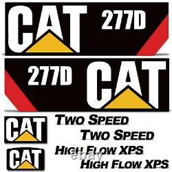 Caterpillar 277d Graphic Decal Kit Pour 277 Cat Mini Chargeur + Décalcomanies Diesel