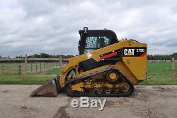 Caterpillar 279 D Cat Y2014 Chargeuse Sur Pied À Glissière + Seau £ 23250 + Tva
