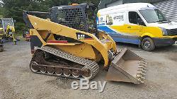Caterpillar 287 Tracteur De Chenilles À Chenilles À Chenilles, Excavateur À Petites Heures
