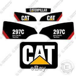 Caterpillar 297c Decal Kit Décalcomanies Équipement (high Flow Xps 2 Vitesse) 297 En C