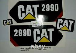 Caterpillar 299d Decal Kit Chat Skid Autocollants Steer USA Expédition Rapide Gratuit