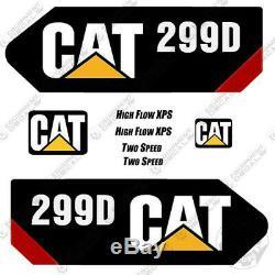 Caterpillar 299d Decal Kit Matériel Décalcomanies Skid Steer (299d)