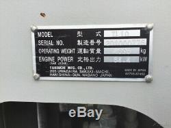 Chargeur Compact À Piste Compacte Takeuchi Tl10 2015 Avec Cabine À 2 Vitesses Et Haut Débit
