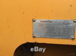 Chargeuse Compacte À Chenilles Compactes Mustang Mtl16 2007 Avec Commandes Par Manipulateur