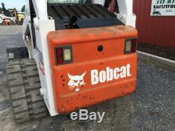 Chargeuse Compacte Sur Chenilles Bobcat T300 Compact 2005 Avec Cabine Seulement À 1600 Heures Un Propriétaire