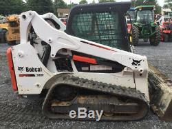 Chargeuse Compacte Sur Chenilles Compactes Bobcat T590 2016 Avec Cabine Seulement 900 Heures