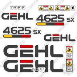 Gehl 4625sx Decal Kit Skid Steer Décalcomanies 4625sx (4625) 7 Ans Vinyle