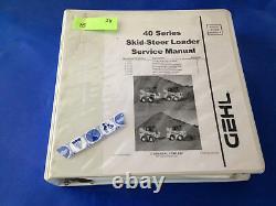 Gehl Sl4640 4840 5640 6640 Skid Steer Loader Service Shop Repair Workshop Manuel