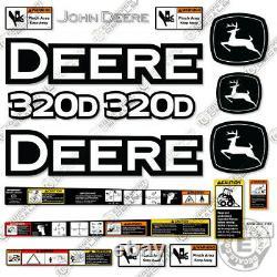 John Deere 320d Decal Kit Skid Steer Décalcomanies 320 D 320-d Autocollants D'avertissement