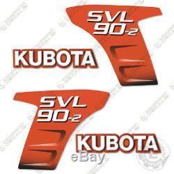 Kubota Svl 90-2 Autocollants Skid Autocollants De Remplacement Steer