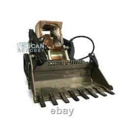 Lesu 1/14 Métal Hydraulique Aoue-lt5 Rc Tracked Skid-steer Loader Diy Model Lights