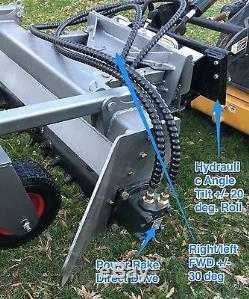Mini Skid Rake Power Steer Pour Toro Dingo, Boxer, Vermeer, Dw, Bobcat Mt Harley