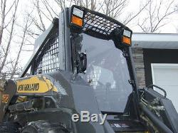 New Holland 1/2 Lexan Demolition Porte Et Cabine. Mini Chargeuse