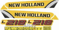 New Holland L218 Set Complet Autocollant / Adhésif / Autocollant Pour Chargeur