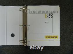 New Holland Models L160 & L170 Skid Steer Loader Shop Service Repair Manual Book