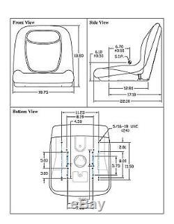 Nouveau Camo High Back Seat Pour Chargeur À Roues Fixes John Deere 70 125 240 7775 8875
