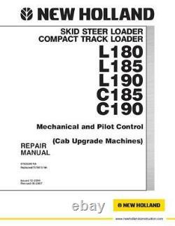 Nouveau Holland L180 L185 L190 C185 C190 Skid Steer Loader Service Manual