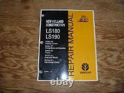 Nouveau Holland Ls180 Ls190 Skid Steer Loader Hydraulic Shop Service Repair Manual