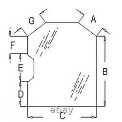 Porte En Verre De Cabine Teintée 6729776 S'adapte Bobcat 873g 883 963g S175 S185