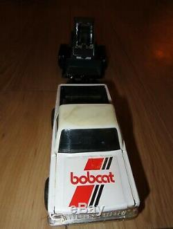 Ramassage Vintage Ertl Chevrolet Truck & Bobcat Mini Chargeuse Avec Remorque 1/25