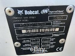 Skid Bobcat Mini Chargeuse S160 2007 Seulement 171 Heures De New Peine Utilisé