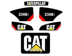 Stickers Cat 236b-3 Décals Kit Chargeur Skidsteer Full Set Emblem Caterpillar B3