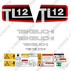 Takeuchi Tl 12 Skid Steer Decal Kit Équipement Autocollants Tl12 Tl12