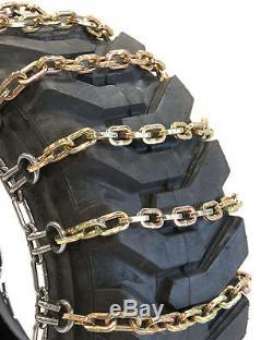 Titan Chain Skid Steer / Loader Square 2-link Spacing Les Chaînes De Pneus S'adaptent À 10x16.5