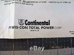 Tm27k-601 / Tm27k6012 Continental Wisconsin Nouvelle Pompe D'eau Oem Aveco Pulley D3s3
