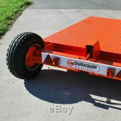 Tracteur Surbaissée £ 3995 + Pelle Tva Skid Steer Plat Ridelles Remorque 6 Tonnes