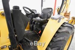 Tractopelle John Deere 110 4x4, Attache Rapide Skid Steer, 24 Godet
