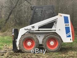 Véritable 1988 Bobcat 743 Chargeur À Roues Fixes