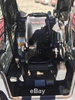 Véritable 2014 Takeuchi Tl12 Tracked Skid Steer Loader Cabine Fermée